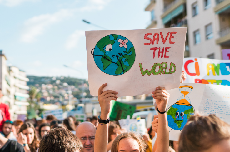 Tommi Boon, climate march in Imperia, Italy, 2019
