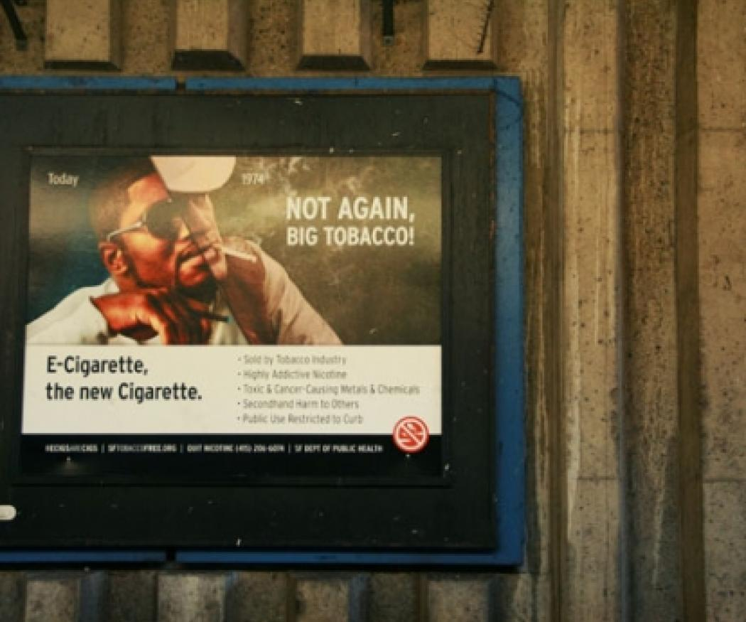 Billboard for a Strategic Alliance e-cigarette campaign